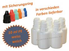 10 ml Tropf-Flasche in weiß - PE Q - Farben frei wählbar