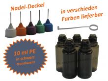 10 ml PE Nadelflaschen in schwarz transluzent