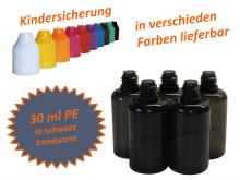 30 ml Tropf-Flasche in schwarz transluzent - PE