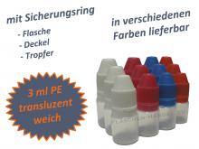 3 ml Flasche PE Originalitätsverschluss