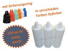120 ml Tropf-Flasche in weiss - PE Q - Farben frei wählbar