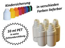 10 ml Tropf-Flasche PET in weiss ( lichtfest )