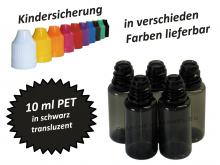10 ml Tropf-Flasche PET in schwarz ( transluzent )