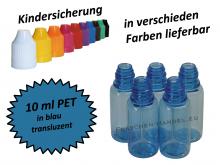 10 ml Tropf-Flasche PET in blau ( transluzent )